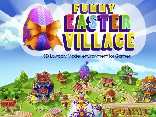 پکیج یونیتی Funny Easter Village