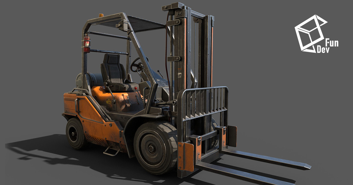 Sci-fi Forklift - HDRP