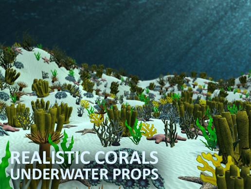 Realistic corals - underwater props