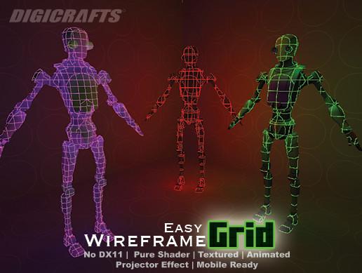 Easy Wireframe Grid - wireframe grid shader effect | Unity