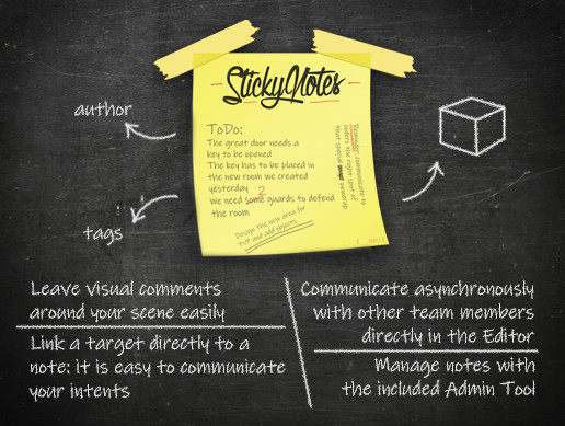 Sticky Notes - In-editor comments and notes