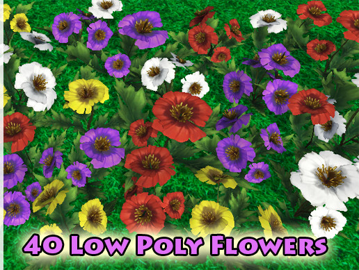 Low Poly Flowers Vol.2