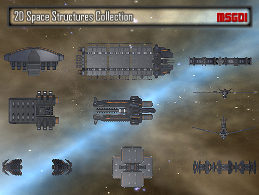 2D Space Structures Collection