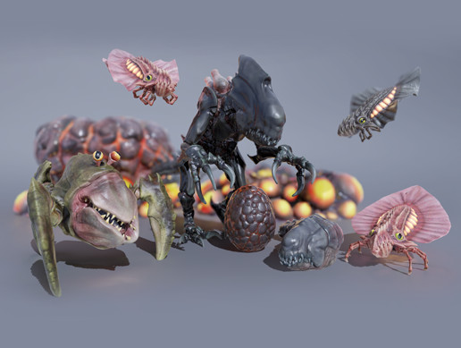 SCI FI CREATURES PACK Vol 1