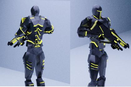 Game Ready Futuristic Soldier