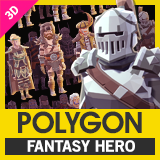 POLYGON Modular Fantasy Hero Characters - Low Poly 3D Art by Synty
