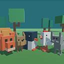 5 animated Voxel animals