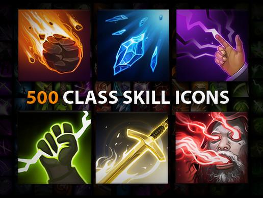 500 Skill icons