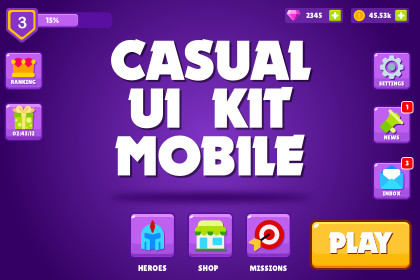 Casual UI Kit - Mobile