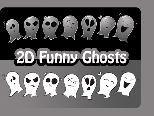 2D Funny Ghosts