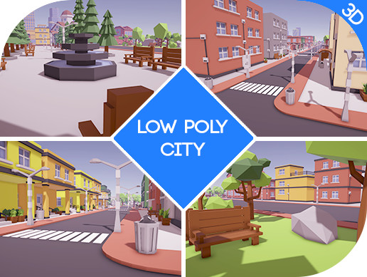Low Poly City Asset - Asset Store