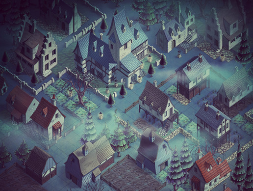 Spooky Town 2D Isometric Assets
