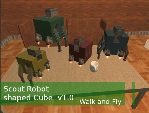 Scout Robot Shaped Cube