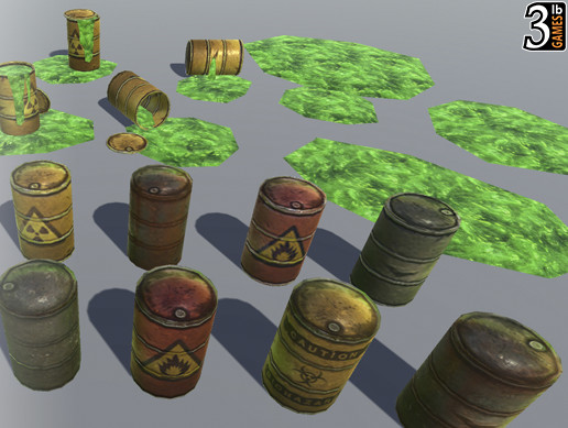 Low Poly Crates and Barrels Pack