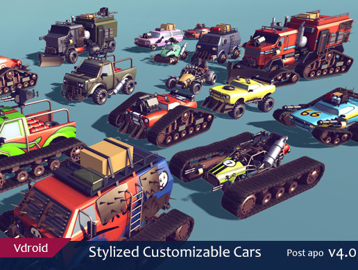 Stylized Customizable Cars (post apo v4)