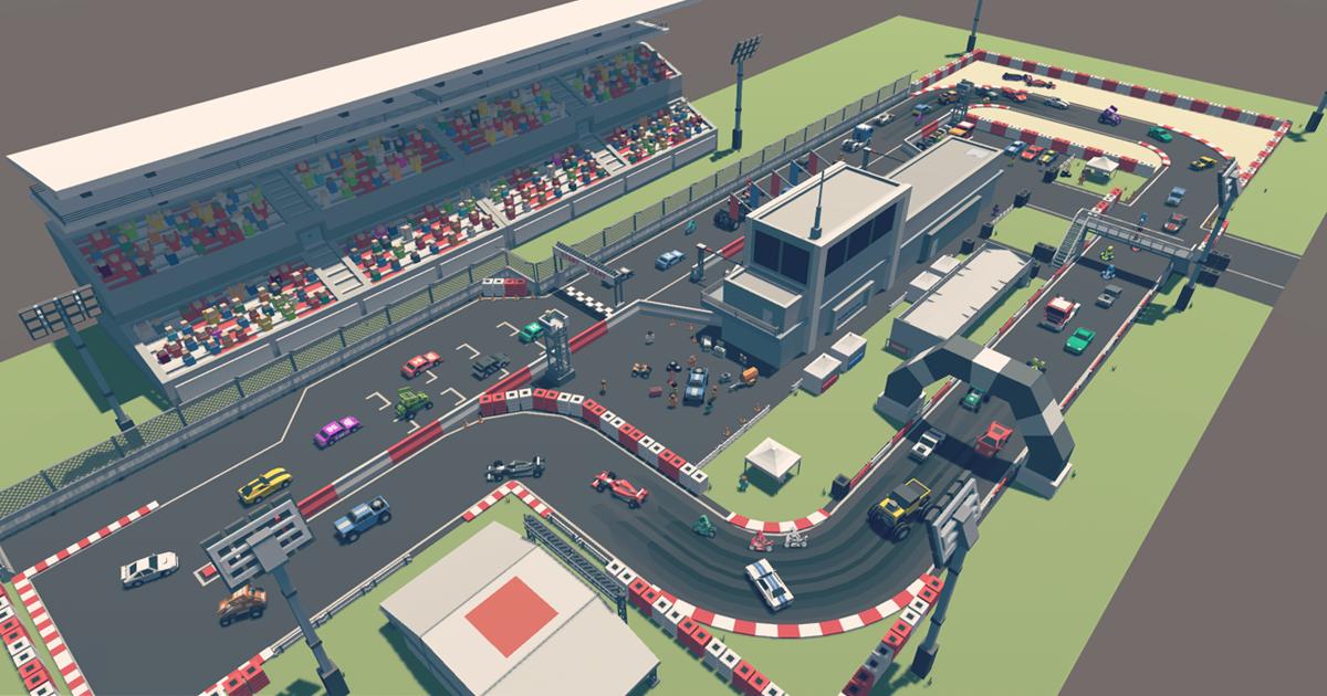 Simple Racer - Cartoon Assets