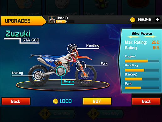 Bike Racing Graphics CxS (GUI Skin 11)