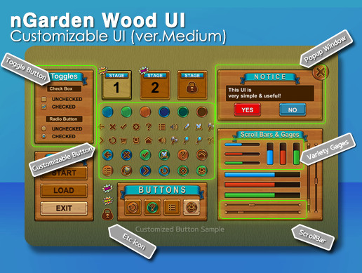 nGarden Wood UI (Medium)