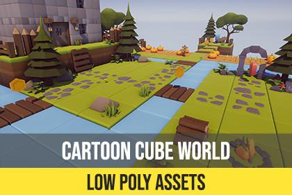 Cartoon Low Poly Cube World