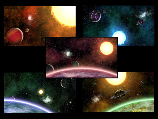 2D Layered Space Backgrounds