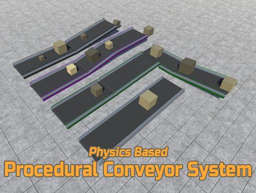 Procedural Conveyor System // Works with all Rigidbodies