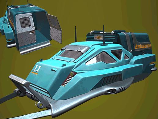SCI-FI Hover Ambulance