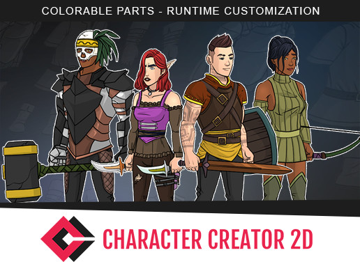 Unity 3D - Character Creator 2D by Simpleton