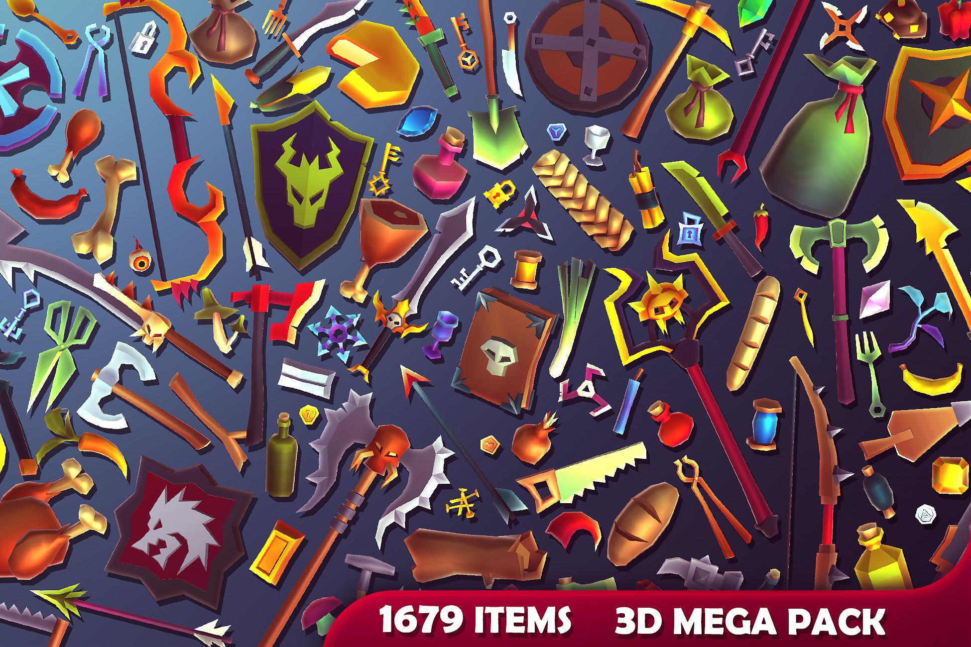 3D Items - Mega Pack