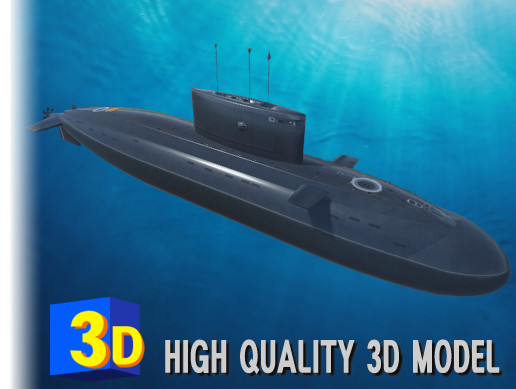 3D Russian Submarine