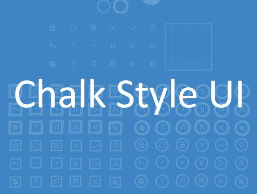 Chalk Drawing Blueprints style UI icon set.