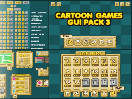 Cartoon Game GUI 3