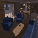 Cabin Interior Household Items & Furniture Pack With Interactive Component