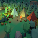 Low Poly Middle Ages Village