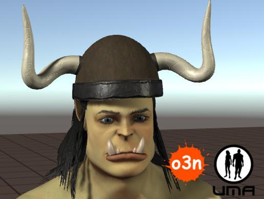 o3n Male Orc Helmet
