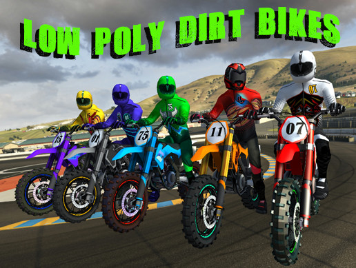 5 Low Poly Dirt Bike with Rider Pack-2