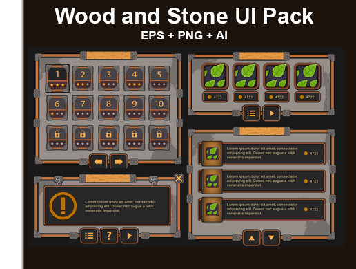 Wood and Stone UI Pack