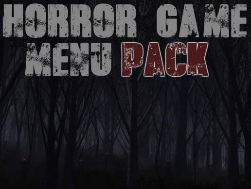 Horror Game Menu Pack