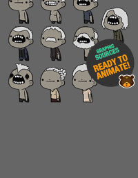 2D Zombie Characters