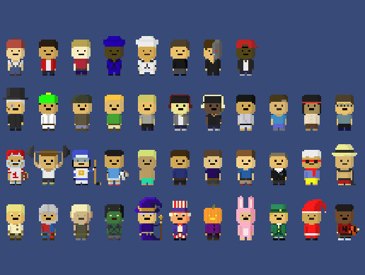 41 Animated Pixel Characters