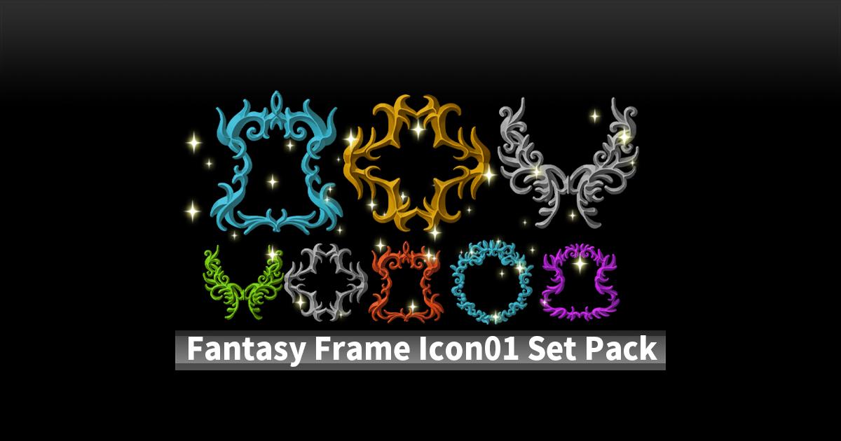 Fantasy Frame Icon01 Set Pack