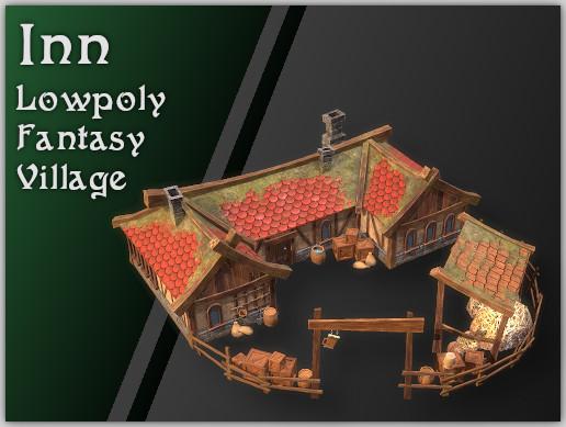 Inn - Lowpoly Fantasy Village