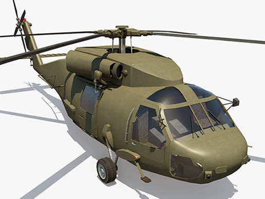 Military Helicopter - Black Hawl