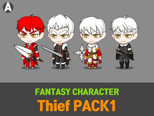 Fantasy Character Thief Pack 1