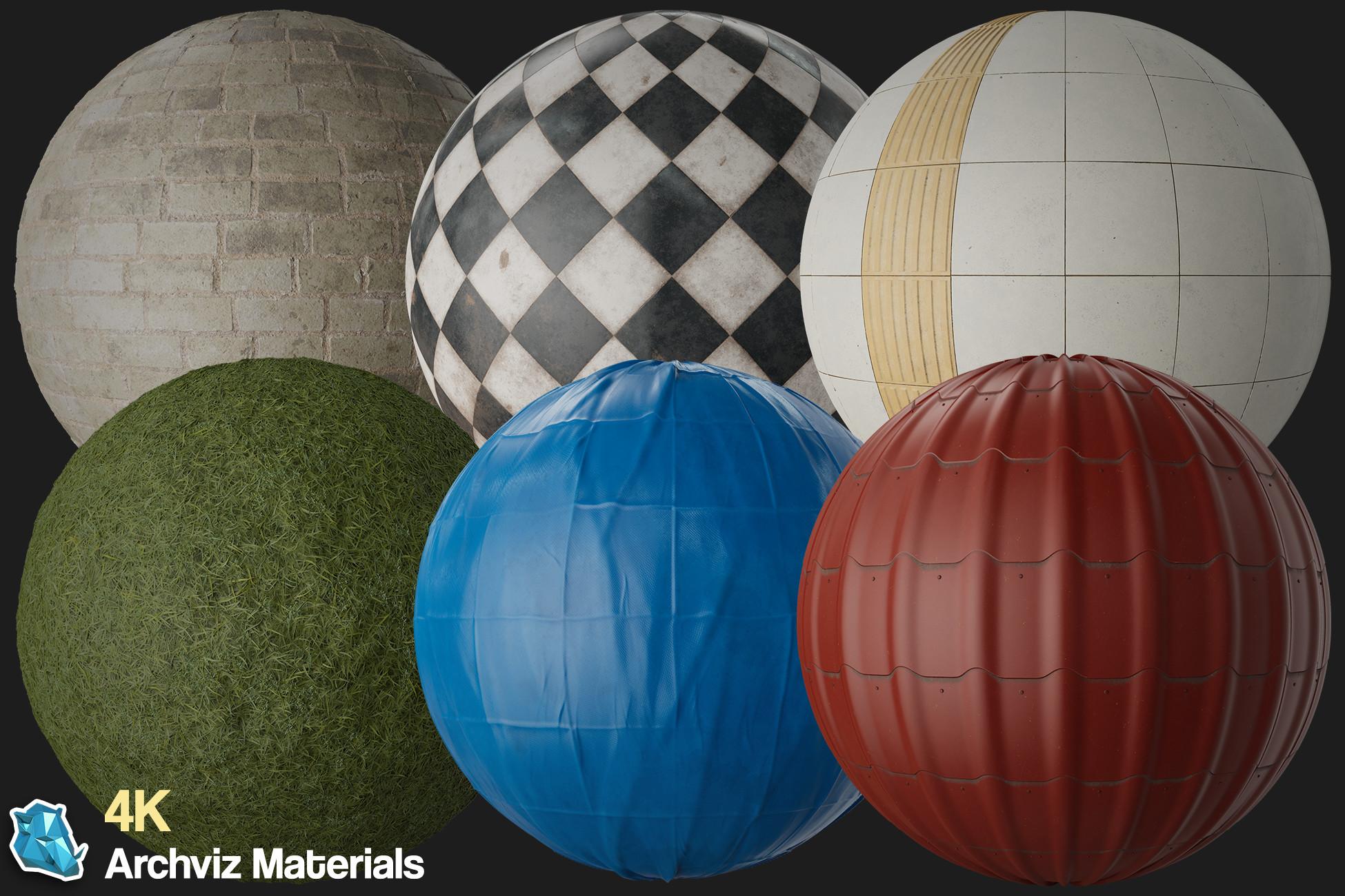 30 - 4K PBR Archviz Materials