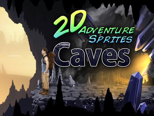 پروژه یونیتی 2D Adventure Sprites: Caves