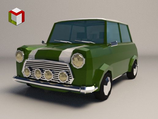 Low Poly City Car 02