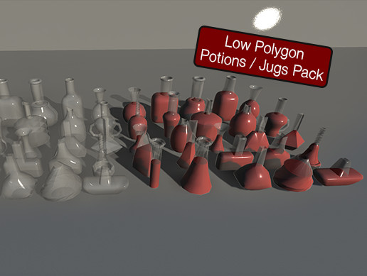 Low Polygon Potions Pack