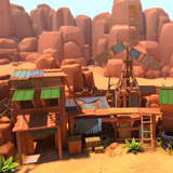 Lowpoly Wasteland Outpost