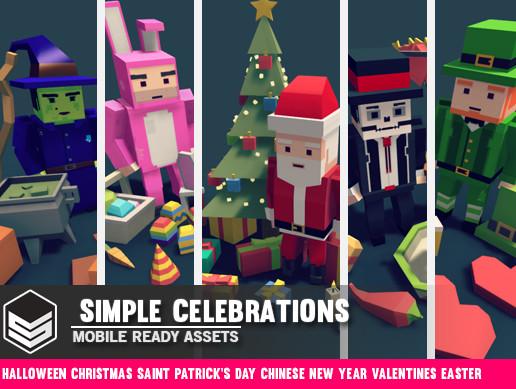 Simple Celebrations - Cartoon assets