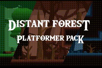 2D Pixel Art - Distant Forest 64x64